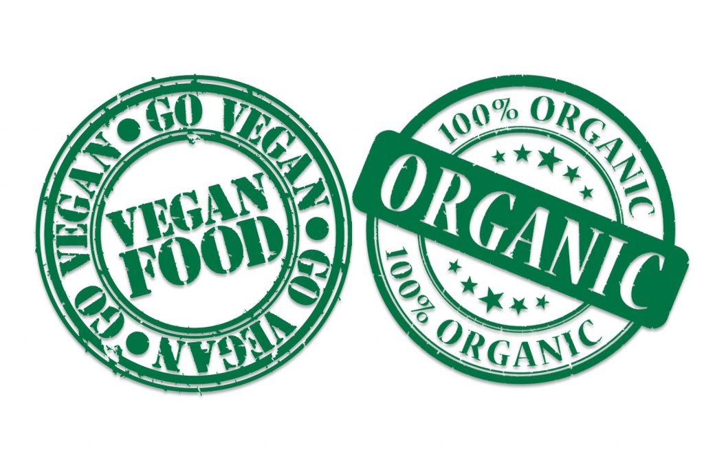 vegan és organikus pecsét matchához
